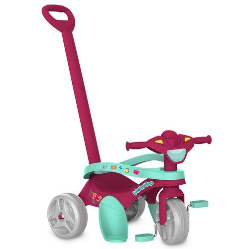 Triciclo Mototico - Passeio e Pedal - Rosa e Ciano - Bandeirante