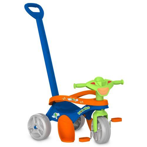 Triciclo Mototico - Passeio e Pedal - Azul e Verde - Bandeirante