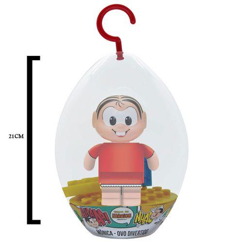 Blocos de Montar - Turma da Mônica - Mônica - Ovo Divertido - Embalagem de Páscoa - Monte Líbano