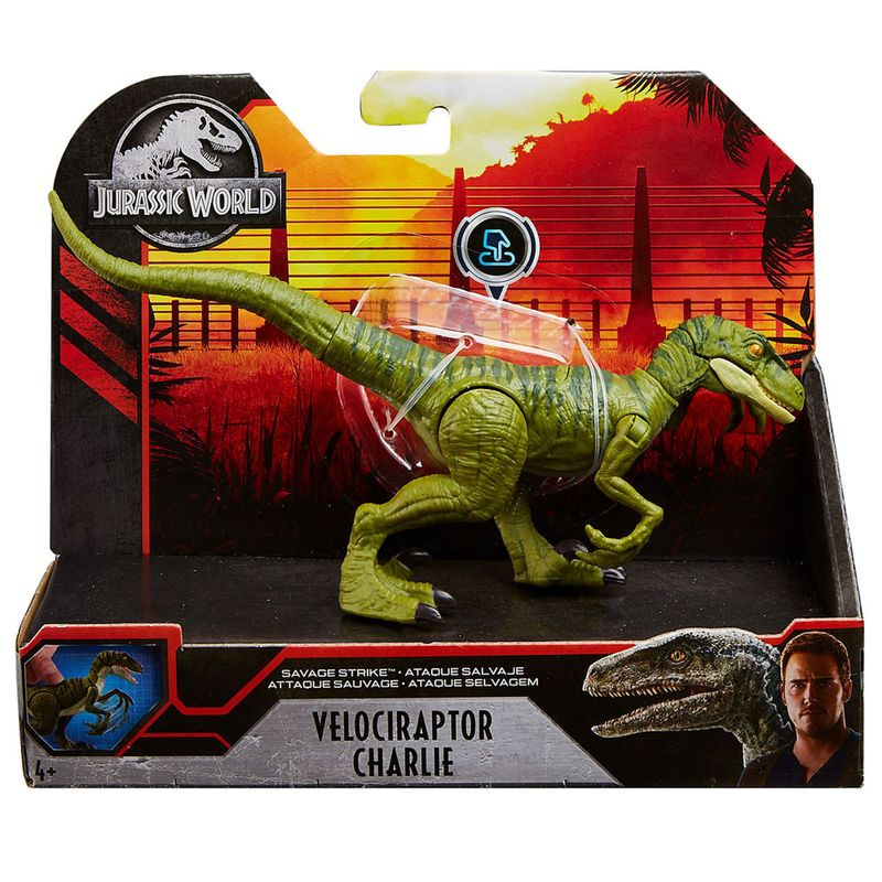 Figura-Articulada---Jurassic-World---Batalha-Feroz---Velociraptor-Charlie---Mattel