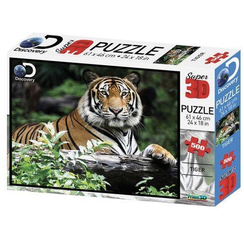 Quebra Cabeça Super 3D Modelo Tigre com 500 Peças Multikids - BR1059
