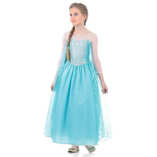 Fantasia Elsa Frozen Vestido Infantil Luxo - Disney