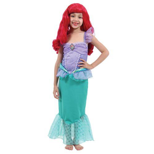 Fantasia Ariel Infantil Luxo - Disney Princesas