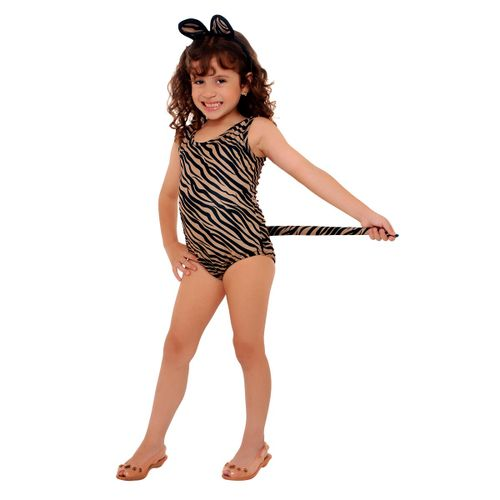 Fantasia Leopardo Collant Infantil
