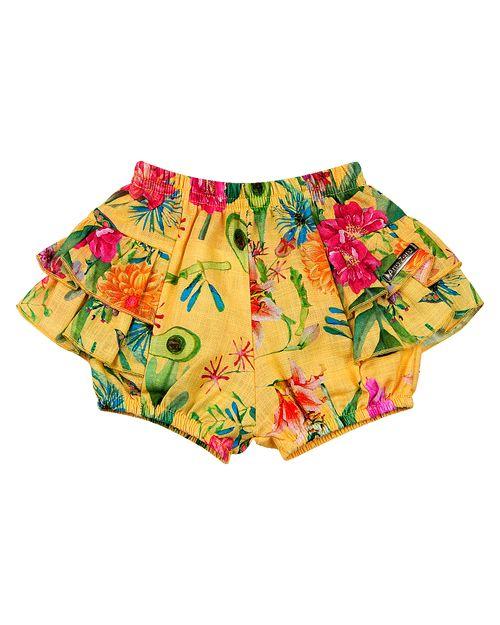 Shorts Bebê Dylan Estampa Digital - Amarelo