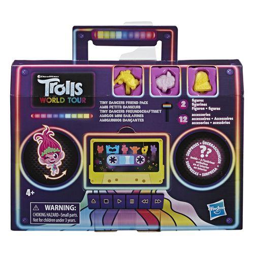 Figuras Interativas com Acessórios - DreamWorks - Trolls - World Tour - Pequenos Dançarinos Surpresa - Hasbro