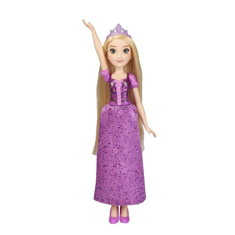 Boneca-Articulada---Princesas-Disney---Rapunzel---Brilho-Real---Figura-Classica---Hasbro