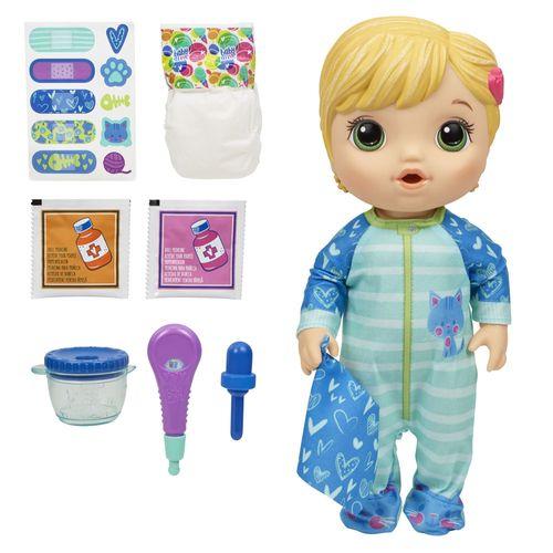 Boneca Baby Alive - Aprendendo a Cuidar - Loira - Gatinho - E6937 - Hasbro