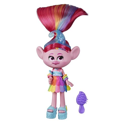 Mini Figura com Acessórios - DreamWorks - Trolls World Tour - Glamour Poppy - Hasbro