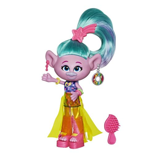 Mini Figura com Acessórios - DreamWorks - Trolls World Tour - Glamour Satin - Hasbro