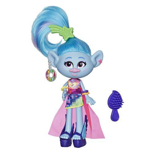 Mini Figura com Acessórios - DreamWorks - Trolls World Tour - Glamour Seide - Hasbro