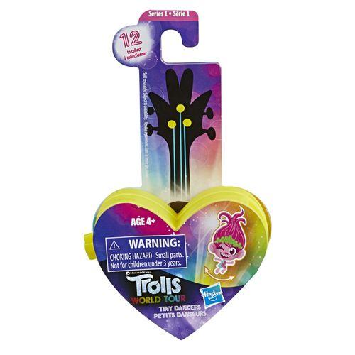 Mini Figura com Acessórios - Trolls - Pequenos Dançarinos - Coração - Amarelo - Hasbro