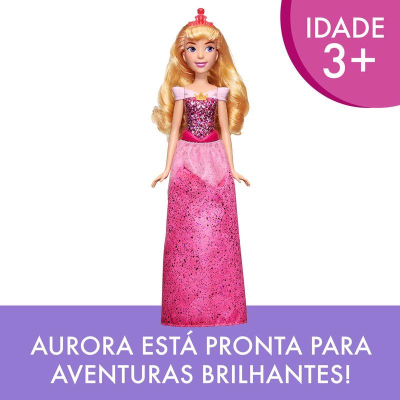 Boneca-Articulada---Princesas-Disney---Aurora---Brilho-Real---Figura-Classica---Hasbro