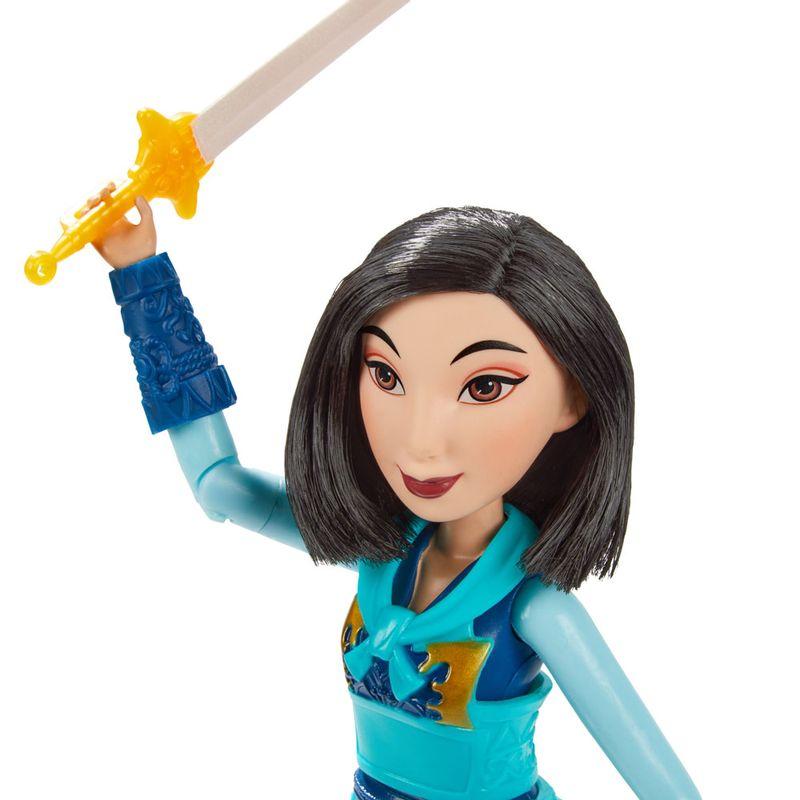 Boneca-Articulada---Princesas-Disney---Mulan---A-Guerreira---Hasbro