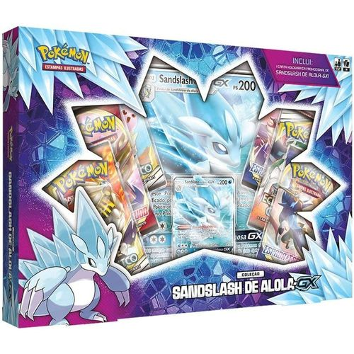 Box Pokémon - Coleção Especial - Sandslash de Alola GX - Copag