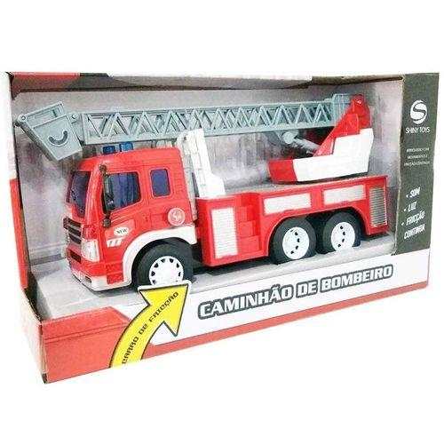 Mini Veículo - Caminhão de Bombeiros - Shiny Toys