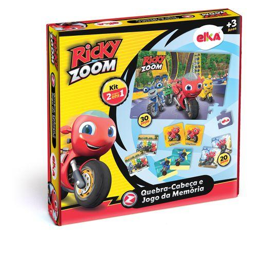 Conjunto De Jogos - Quebra - Cabeça 30 Peças E Jogo Da Memória - Ricky Zoom - Elka