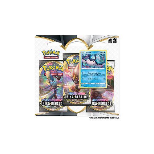 Cards Pokémon - Deck Triplo - Espada e Escudo - Mantine - Copag