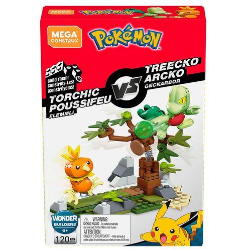 Blocos de Montar - Mega Construx - Playset de Batalha - Pokémon - Torchic vs Treeko - Mattel