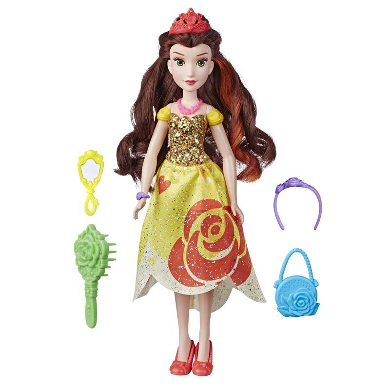 Boneca-Princesas-Disney---35-Cm---Bela-Audaz---Com-Acessorios-Fashion---Hasbro