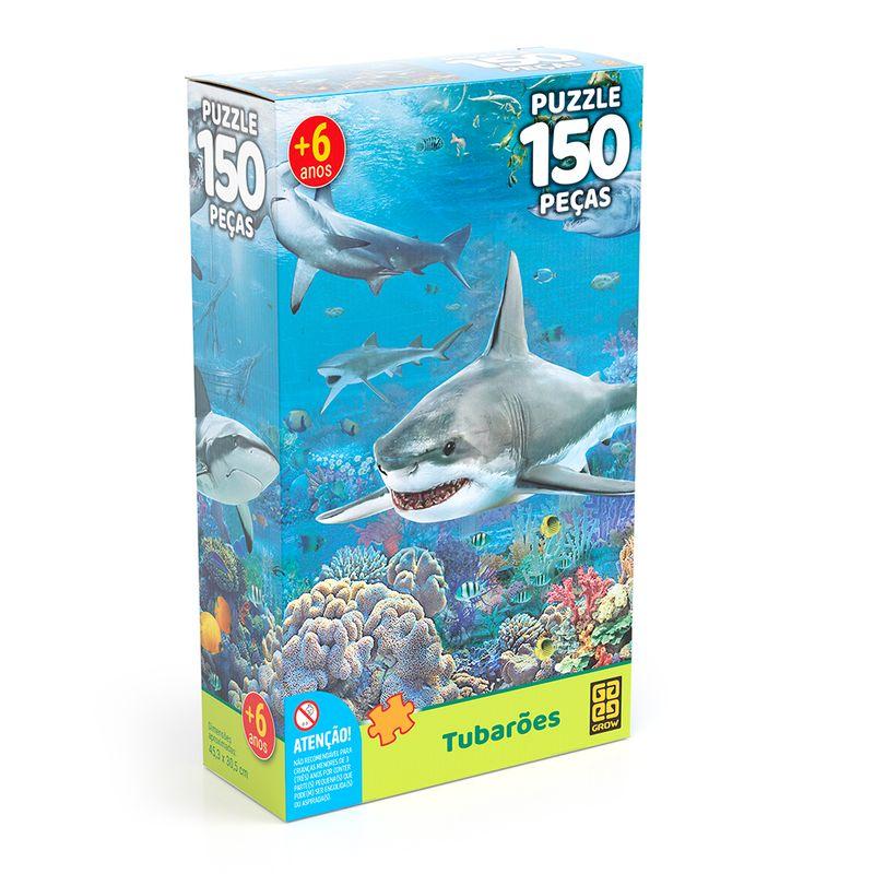 Quebra-Cabeca---150-Pecas---Tubaroes---Grow-0