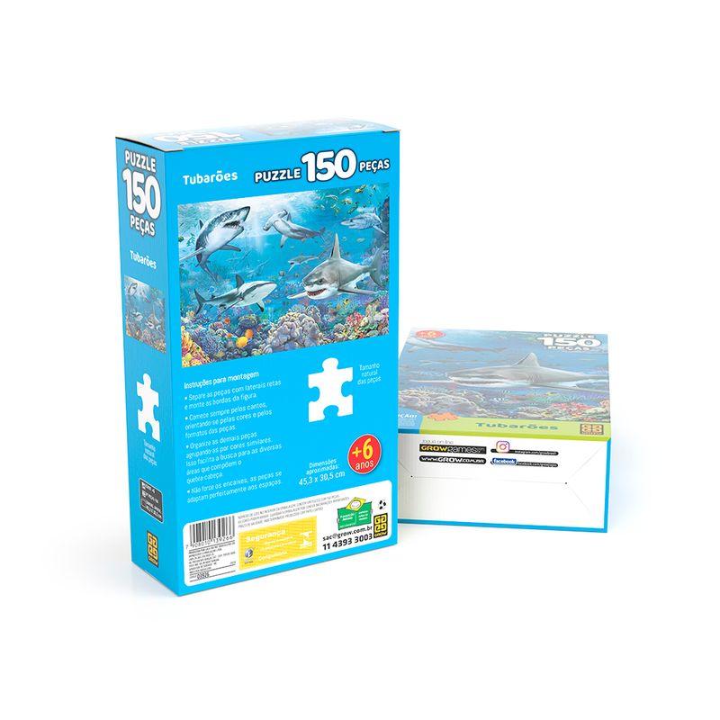 Quebra-Cabeca---150-Pecas---Tubaroes---Grow-1