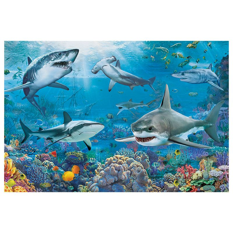 Quebra-Cabeca---150-Pecas---Tubaroes---Grow-2