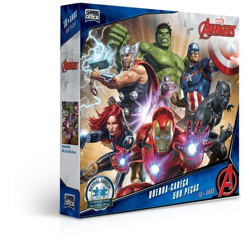 Quebra-Cabeça - 500 Peças - Disney - Marvel - Os Vingadores - Toyster