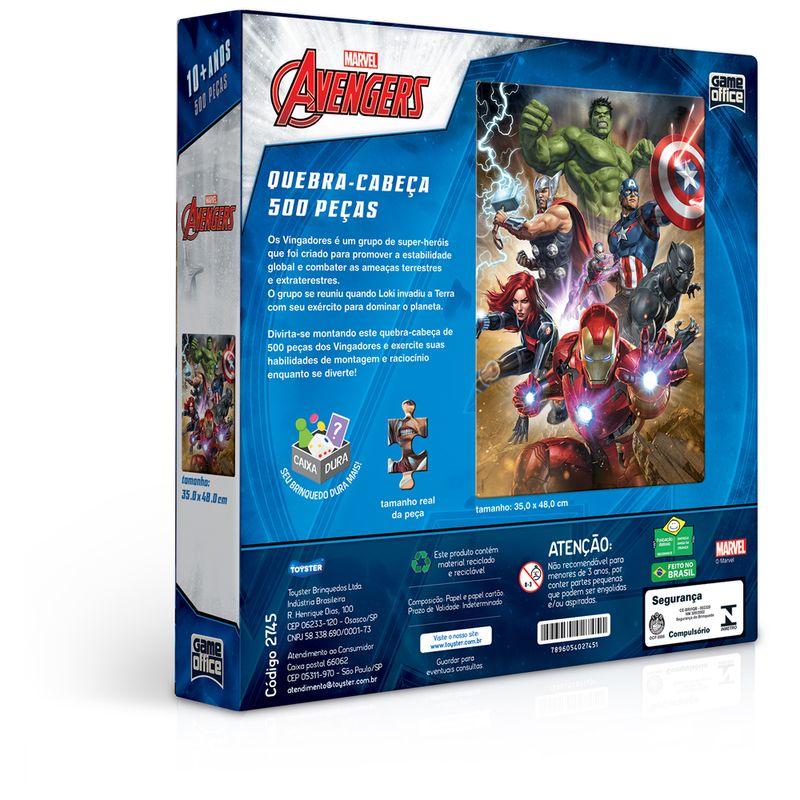 Quebra-Cabeca---500-Pecas---Disney---Marvel---Os-Vingadores---Game-Office---Toyster-2