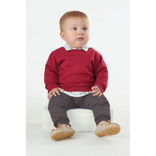 Conjunto Infantil - Blusão e Calça - Algodão e Poliéster - Vermelho - Malharia Cristina