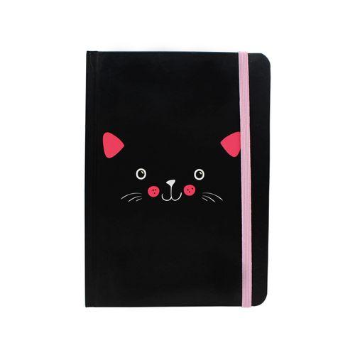 Caderno de anotações 12,7x17,7cm meow