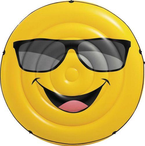 Colchão Ilha Inflável Emoji para Piscina - Intex
