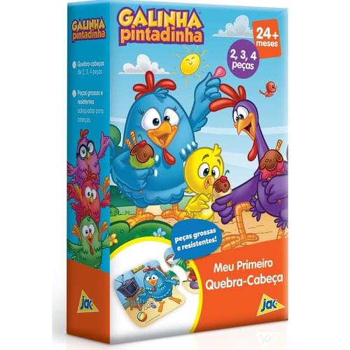 Quebra Cabeça Progressivo - 2, 3 e 4 peças - Galinha Pintadinha - Toyster