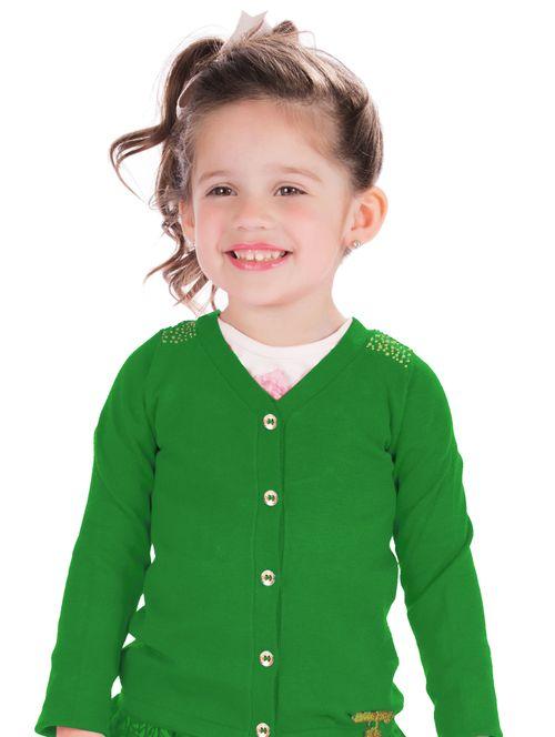 Casaco em Tricô – Hello Kitty – Menina – Tricô – Verde – 6