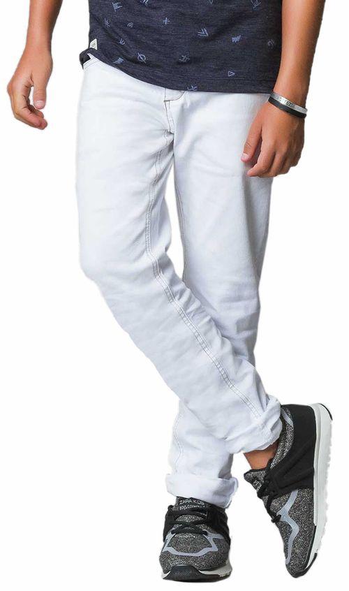 Calça - Skinny  – Johnny Fox – Menino – Algodão – Branco