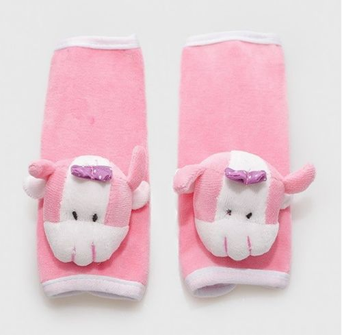 Protetor de Cinto - de Segurança Infantil Vaquinha Brenda - Rosa - Zip Toys - pink