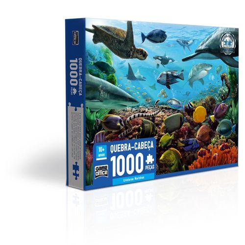 Quebra-Cabeça - 1000 Peças - Criaturas Marinhas - Toyster