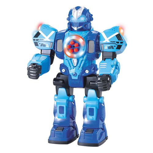 Figuras Eletrônicas De Controle Remoto - Robot Fighting Shoot Bullet - Azul - Polibrinq