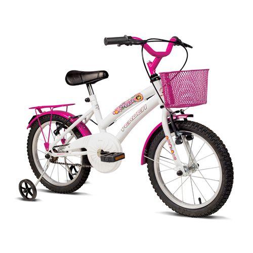 Bicicleta ARO 16 - Breeze - Branca E Rosa - Verden Bikes