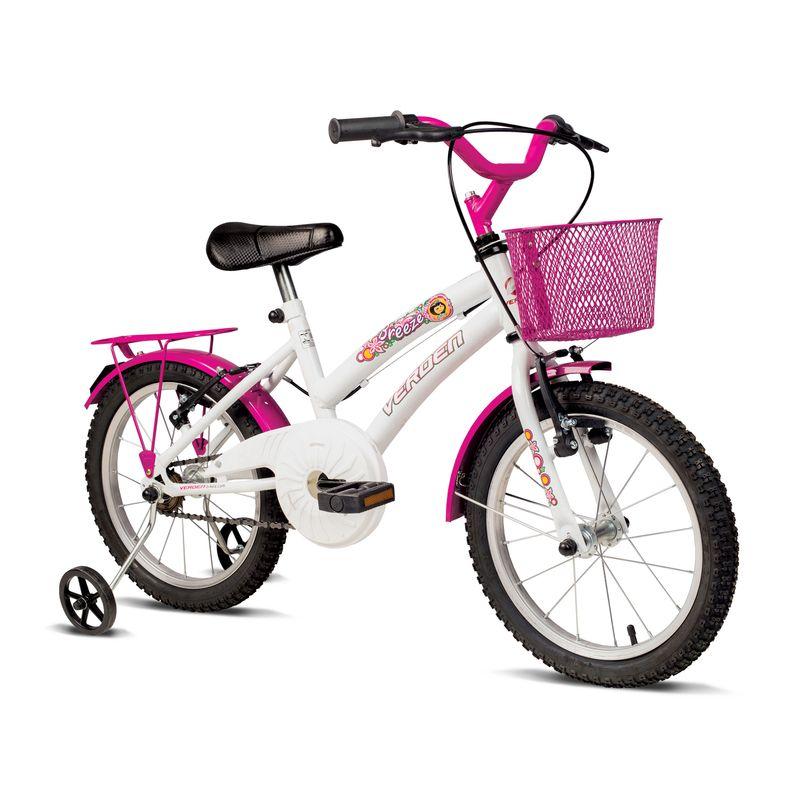 Bicicleta-Aro-16---Breeze---Branca-E-Rosa---Verden-Bikes-0