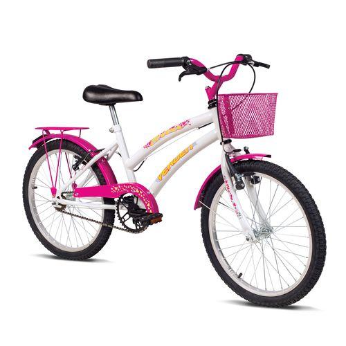Bicicleta Aro 20 - Breeze - Branca E Rosa - Verden Bikes