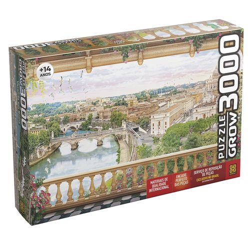 Quebra-Cabeça - 3000 Peças - Varanda em Roma - Grow