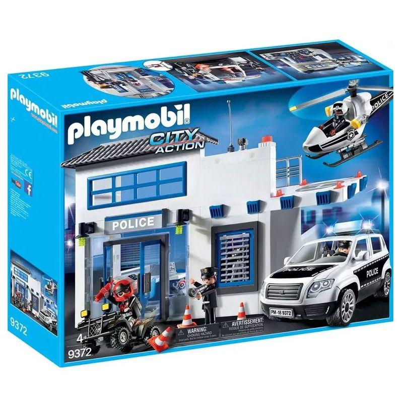 Playmobil---Posto-Policial-com-Heliponto-Carro-de-Policia-e-Helicoptero---1760_Frente