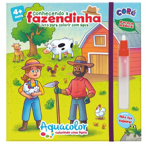 Livro Infantil - Aquacolor - Conhecendo a Fazendinha - Coré - Toyster