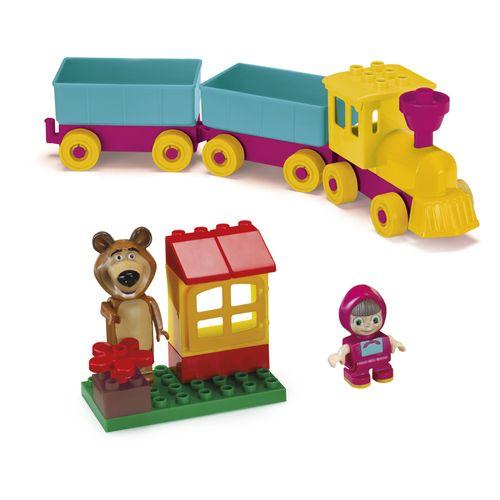 Mini Figura Com Blocos - Trenzinho - Masha e o Urso - Monte Libano