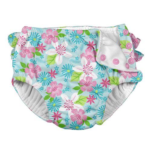 Fraldinha De Banho Calcinha Iplay Aqua Flores