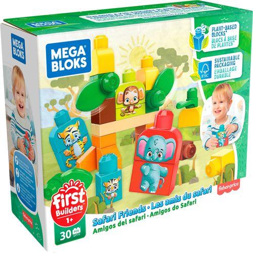 Blocos De Encaixe - Mega Bloks - First Builders - Amigos da Floresta Com 30 Peças - Mattel