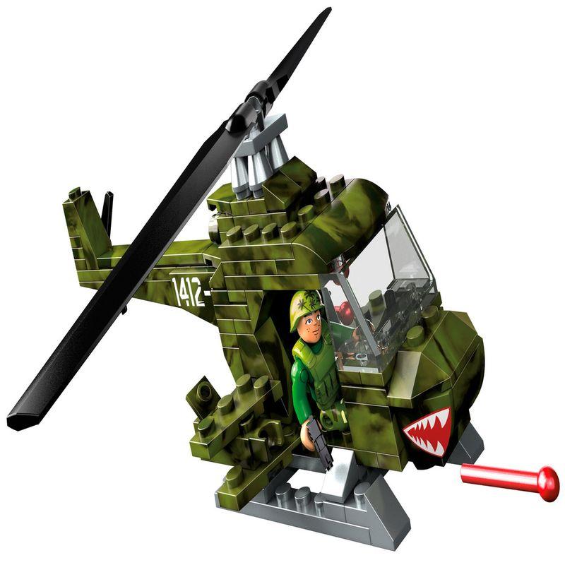 Blocos-de-Encaixe---Mega-Construx---Wonder-Builders---Helicoptero-Militar---Mattel-1