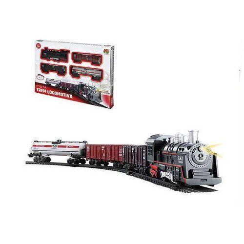 Ferrorama Locomotiva com Som e LUZ a Pilha DM TOYS DMT5374