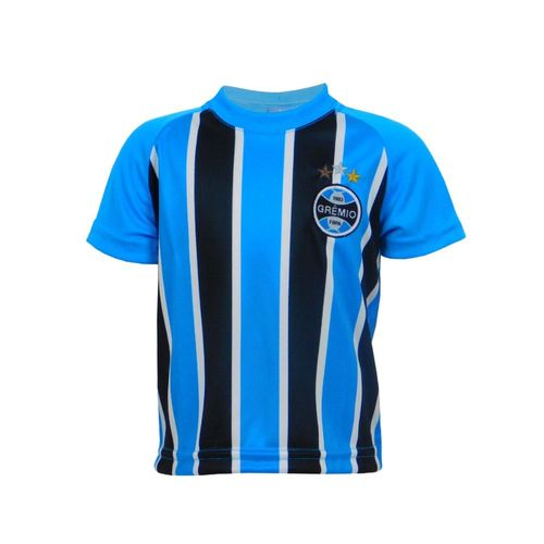 Camiseta Infantil Grêmio Menino Tricolor Manga Curta
